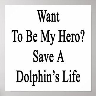 Quiera ser mi reserva del héroe la vida de un delf poster