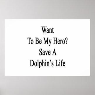 Quiera ser mi reserva del héroe la vida de un delf posters