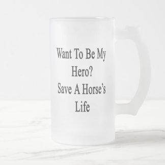 Quiera ser mi reserva del héroe la vida de un taza cristal mate