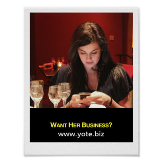 ¿Quiera su negocio Poster