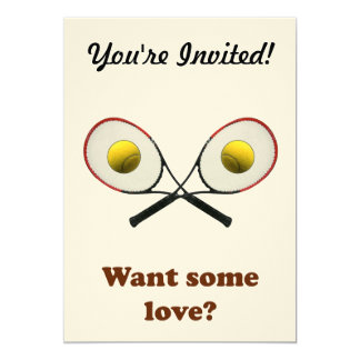 """Quiera un cierto tenis del amor invitación 5"""" x 7"""""""