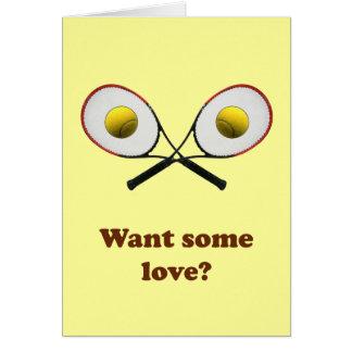 Quiera un cierto tenis del amor tarjeta pequeña