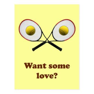 Quiera un cierto tenis del amor tarjeta postal
