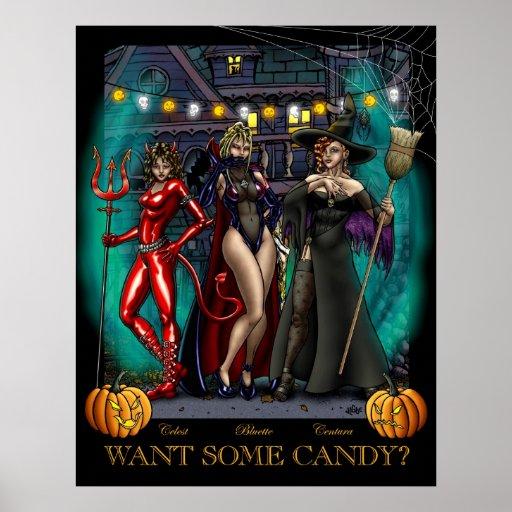 Quiera un poco de caramelo póster