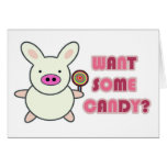 ¿Quiera un poco de caramelo? Tarjeta