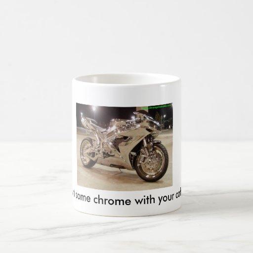 Quiera un poco de cromo con su café taza básica blanca