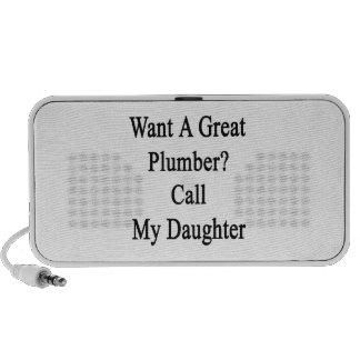 Quiera una gran llamada del fontanero mi hija mp3 altavoz