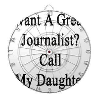 Quiera una gran llamada del periodista mi hija tabla dardos
