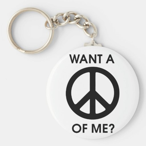 Quiera una paz de mí llavero personalizado