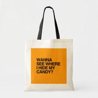QUIERA VER DONDE OCULTO MI CARAMELO - Halloween - Bolsa De Mano