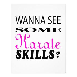 Quiera ver una cierta habilidad del karate
