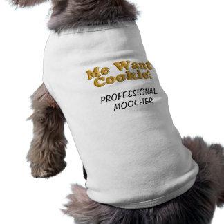 Quiere al Moocher del profesional de la GALLETA Playera Sin Mangas Para Perro