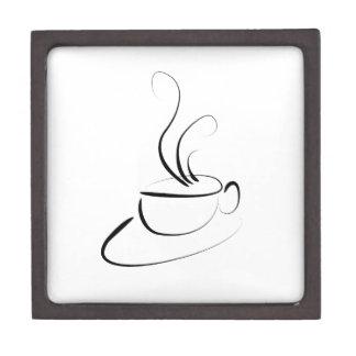 Quiere el café caja de recuerdo de calidad