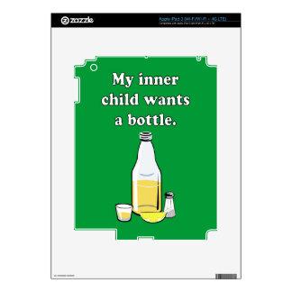 QUIERE UNA BOTELLA 2 PEGATINA SKIN PARA iPad 3