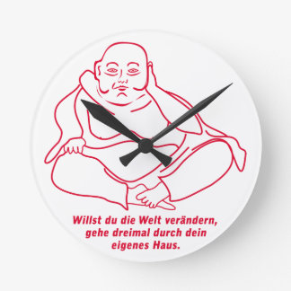 Quieres cambiar el mundo reloj redondo mediano