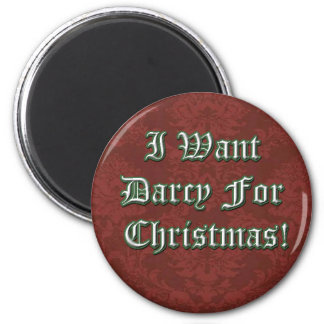 Quiero a Darcy para el imán del navidad