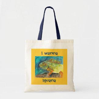 Quiero a la iguana bolsa de mano