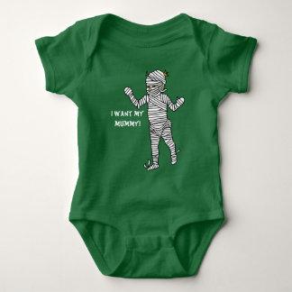 Quiero a mi momia body para bebé