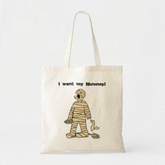 Quiero a mi momia divertida Halloween de la momia Bolsa Tela Barata