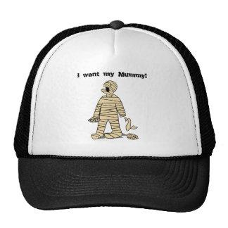 Quiero a mi momia divertida Halloween de la momia Gorros Bordados