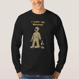 Quiero a mi momia divertida Halloween de la momia Playera