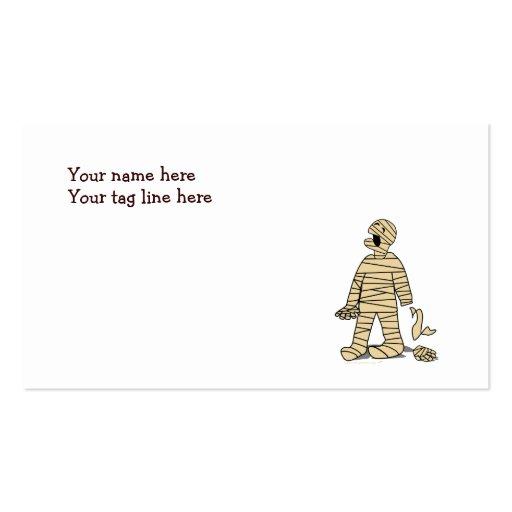 Quiero a mi momia divertida Halloween de la momia Plantillas De Tarjetas Personales