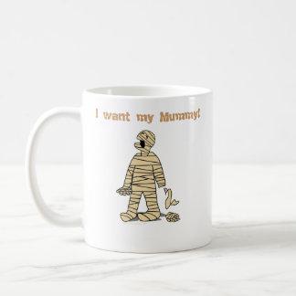 Quiero a mi momia divertida Halloween de la momia Taza