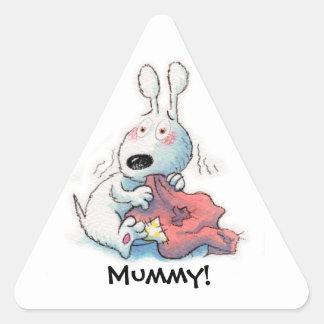 ¡Quiero a mi momia! Pegatina Triangular