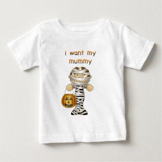 Quiero a mi momia playera de bebé