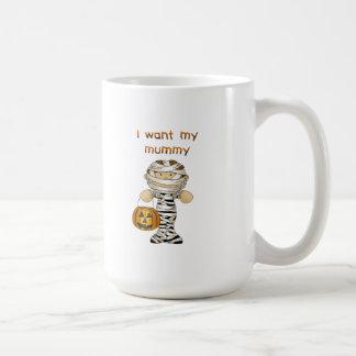 Quiero a mi momia taza