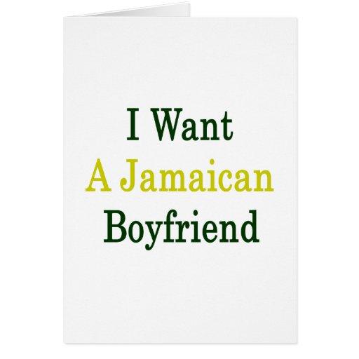 Quiero a un novio jamaicano felicitacion