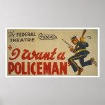 Quiero a un policía WPA 1936 Posters
