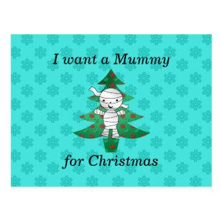 Quiero a una momia para el navidad tarjetas postales