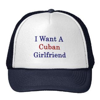 Quiero a una novia cubana gorras de camionero