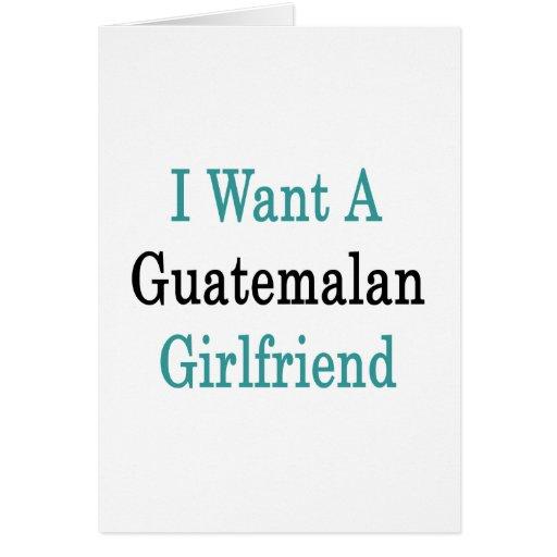 Quiero a una novia guatemalteca felicitaciones