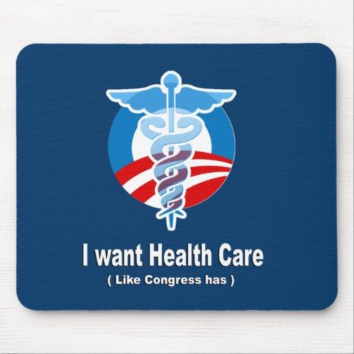 Quiero atención sanitaria como el congreso tiene alfombrilla de raton