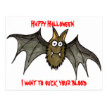 Quiero chupar su sangre tarjeta postal