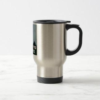 Quiero creer a extranjeros taza de café