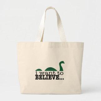 Quiero creer… bolsa tela grande
