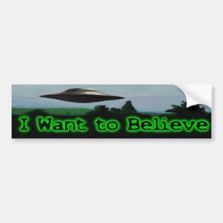 Quiero creer pegatina de parachoque