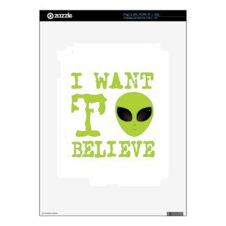 Quiero creer calcomanías para iPad 2