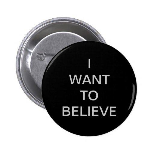 """""""Quiero creer"""" el botón Pin"""