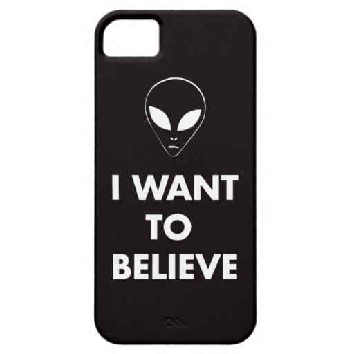 Quiero creer (el negro) iPhone 5 carcasas