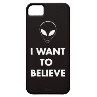 Quiero creer (el negro) iPhone 5 funda