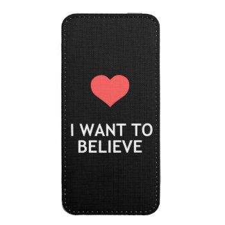 Quiero creer en amor funda acolchada para móvil
