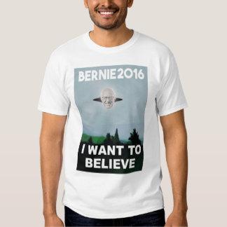 Quiero creer en la camiseta de Bernie Remera