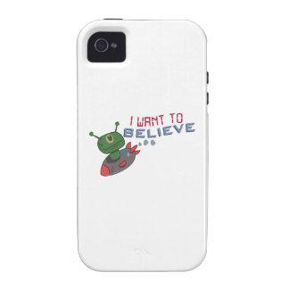 Quiero creer iPhone 4 funda