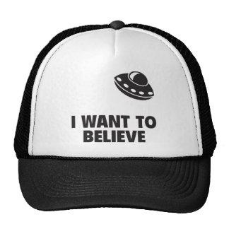 Quiero creer gorras de camionero