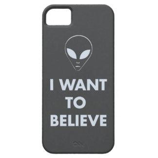 Quiero creer (gris oscuro) iPhone 5 carcasas