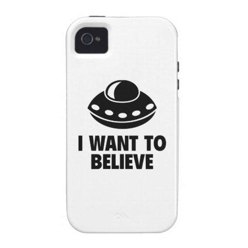 Quiero creer iPhone 4 fundas